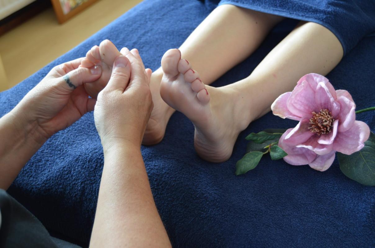 Een ontspannende voetreflex behandeling